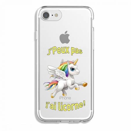 Coque transparente Iphone 6 / 6s jpeux pas jai licorne