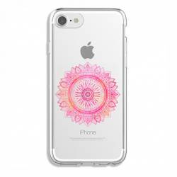 Coque transparente Iphone 6 / 6s mandala rose