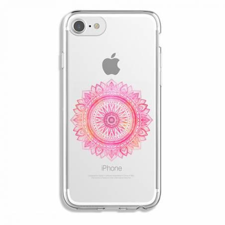 Coque transparente Iphone 6 / 6s mandala rose
