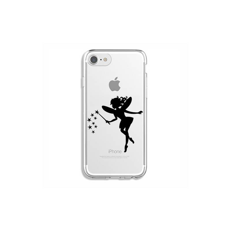 Coque transparente Iphone 6 / 6s magique fee noir