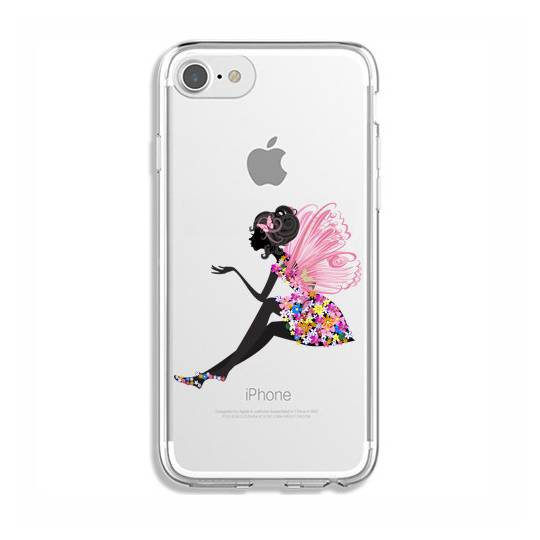 Coque transparente Iphone 6 / 6s magique fee fleurie