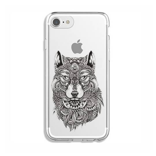 Coque transparente pour iphone 7 / 8 loup