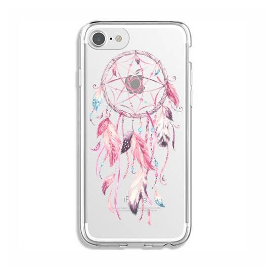 Coque transparente Iphone 7 / 8 feminine attrape reve rose