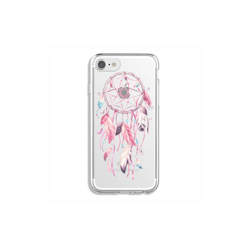 Coque transparente Iphone 7 / 8 feminine attrape reve rose