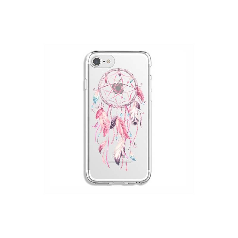 coque transparente pour iphone 7 8 feminine attrape reve rose