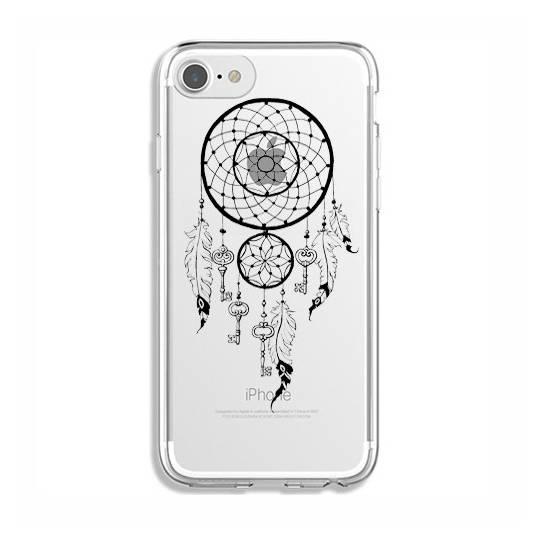 Coque transparente Iphone 7 / 8 feminine attrape reve cle