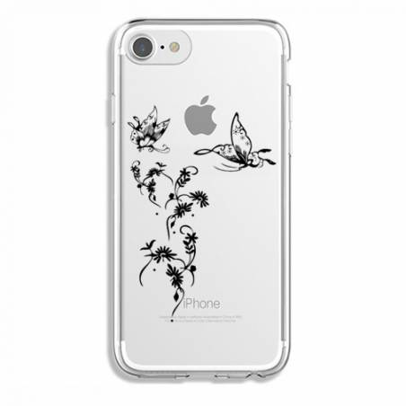 Coque transparente Iphone 7 / 8 feminine envol fleur