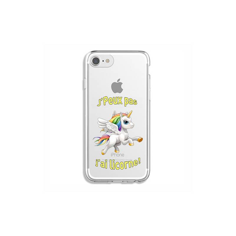 Coque transparente Iphone 7 / 8 jpeux pas jai licorne