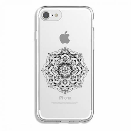 Coque transparente Iphone 7 / 8 mandala noir