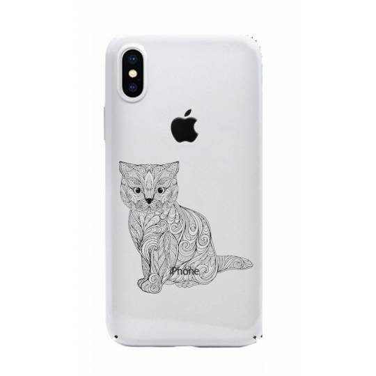 Coque transparente pour iphone X / XS chat