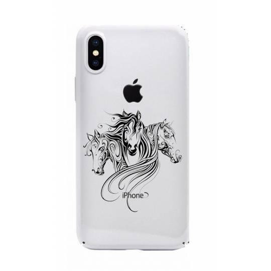 Coque transparente Iphone X chevaux