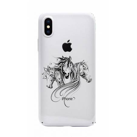 Coque transparente Iphone X chevaux