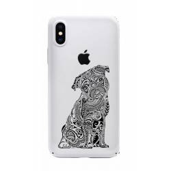 Coque transparente Iphone X chien
