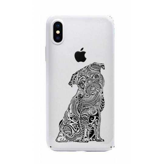 Coque transparente Iphone X chien