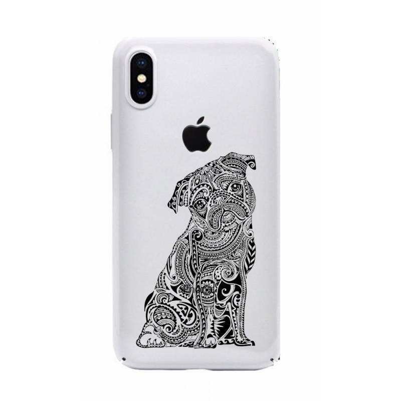 Coque transparente pour iphone X / XS chien