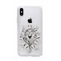 Coque transparente Iphone X lion