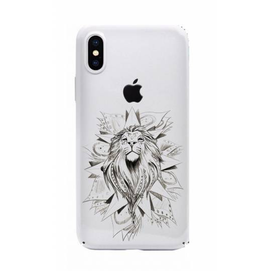 Coque transparente pour iphone X / XS lion