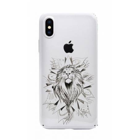 Coque transparente Iphone X lion