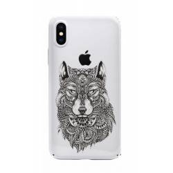 Coque transparente Iphone X loup