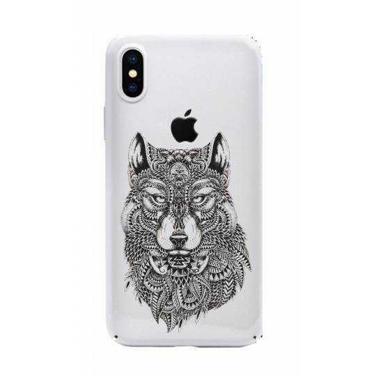 Coque transparente Iphone X loup
