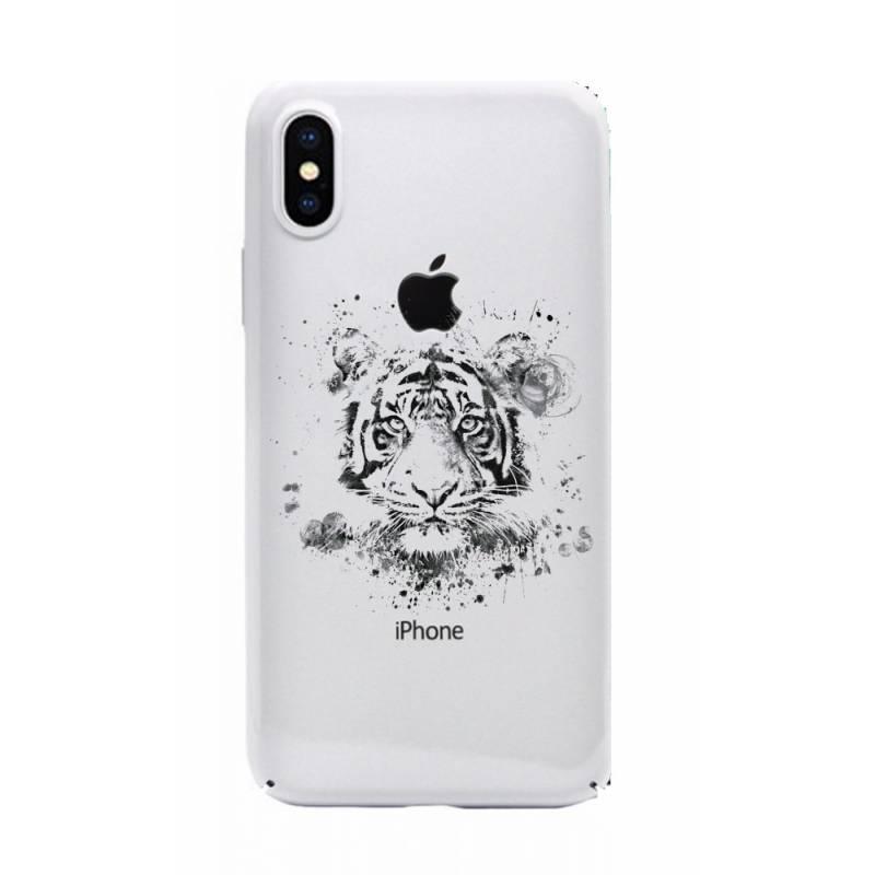 Coque transparente Iphone X tigre