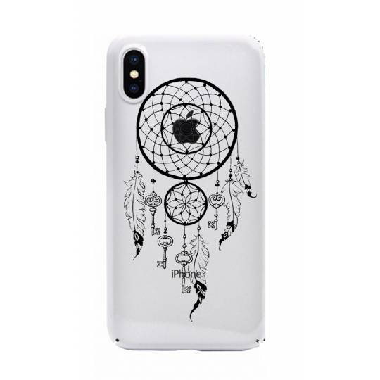 Coque transparente Iphone X feminine attrape reve cle
