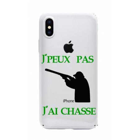 Coque transparente Iphone X jpeux pas jai chasse