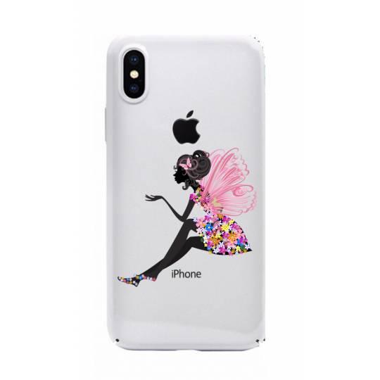 Coque transparente Iphone X magique fee fleurie