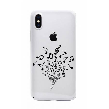Coque transparente Iphone X note musique