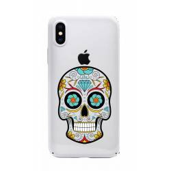 Coque transparente Iphone X tete mort