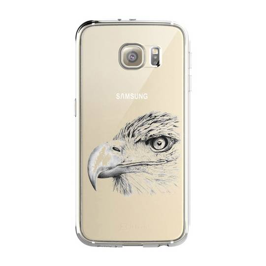 Coque transparente pour Samsung Galaxy S8 Plus + aigle