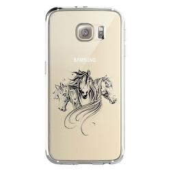 Coque transparente Samsung Galaxy S8 Plus + chevaux