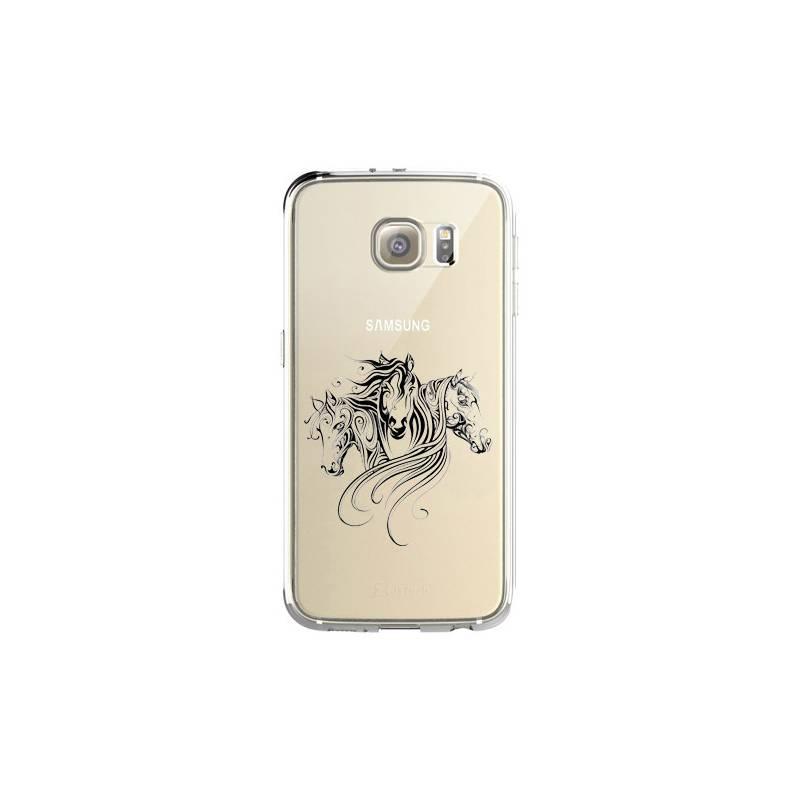 Coque transparente pour Samsung Galaxy S8 Plus + chevaux