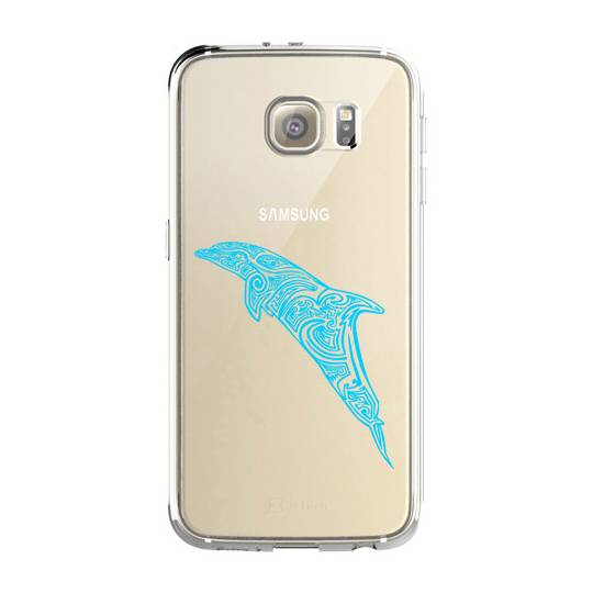 Coque transparente pour Samsung Galaxy S8 Plus + dauphin