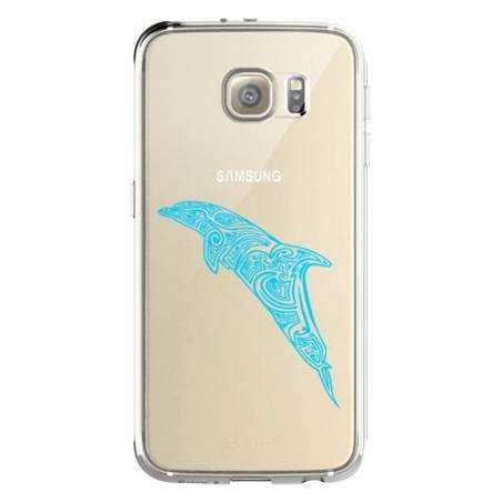 Coque transparente Samsung Galaxy S8 Plus + dauphin