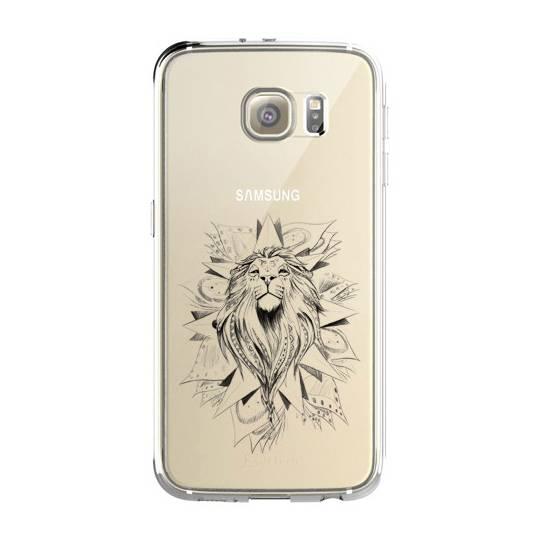 Coque transparente pour Samsung Galaxy S8 Plus + lion