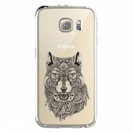 Coque transparente Samsung Galaxy S8 Plus + loup
