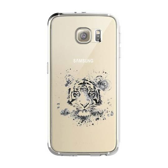 Coque transparente Samsung Galaxy S8 Plus + tigre