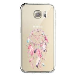 Coque transparente Samsung Galaxy S8 Plus + feminine attrape reve rose