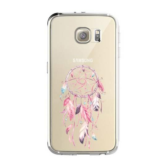 Coque transparente Samsung Galaxy S8 Plus + feminine attrape reve rose