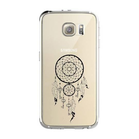Coque transparente Samsung Galaxy S8 Plus + feminine attrape reve cle