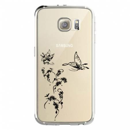 Coque transparente Samsung Galaxy S8 Plus + feminine envol fleur