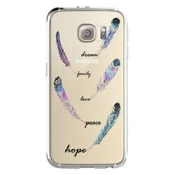 Coque transparente Samsung Galaxy S8 Plus + feminine plume couleur