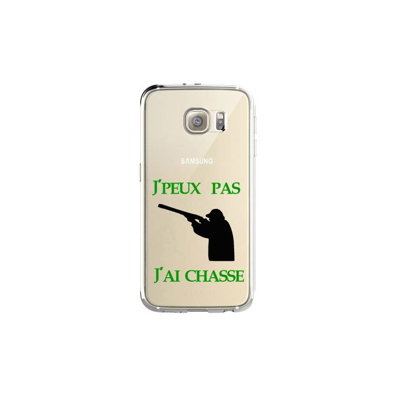 Coque transparente Samsung Galaxy S8 Plus + jpeux pas jai chasse