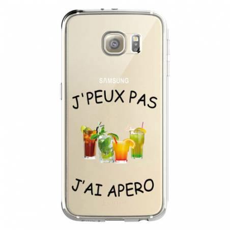 Coque transparente Samsung Galaxy S8 Plus + jpeux pas jai apero