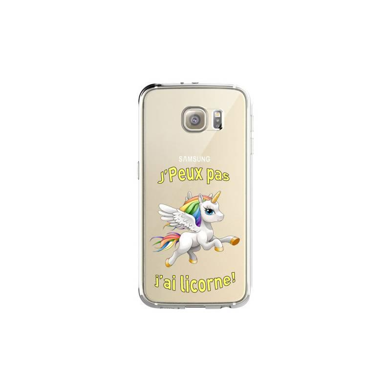 Coque transparente Samsung Galaxy S8 Plus + jpeux pas jai licorne