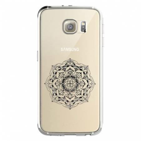Coque transparente Samsung Galaxy S8 Plus + mandala noir