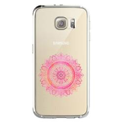 Coque transparente Samsung Galaxy S8 Plus + mandala rose