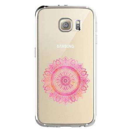 Coque transparente Samsung Galaxy S8 Plus + mandala rose