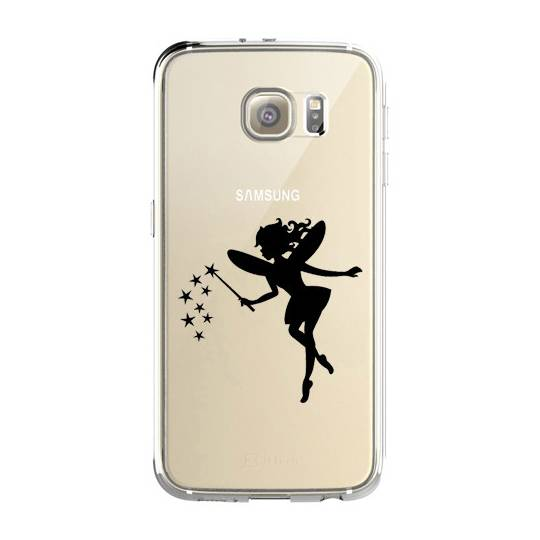 Coque transparente Samsung Galaxy S8 Plus + magique fee noir